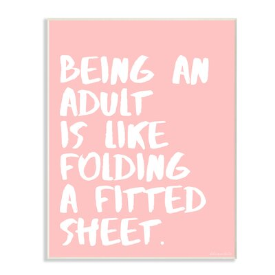 Like Folding a Fitted Sheet Wall Plaque Art