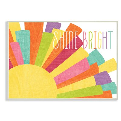 'Shine Bright Colourful Sun' Graphic Art Print HBEE1438 40676753