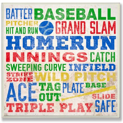 The Kids Room 'Baseball Words' Framed Textual Art Wall Plaque brp-1620