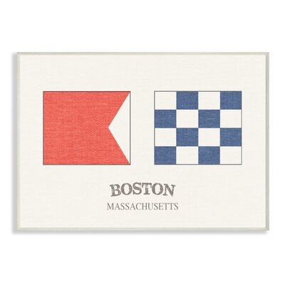 'Boston Nautical Flags' Graphic Art Print Format: Plaque, Size: 10