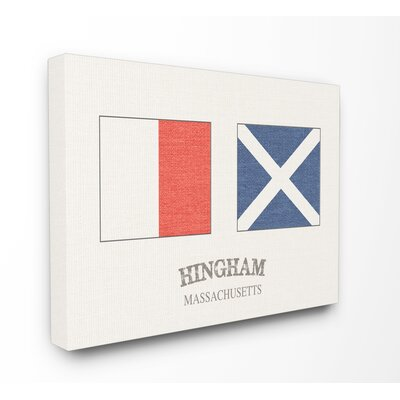 'Hingham Nautical Flags' Graphic Art Print Format: Wrapped Canvas, Size: 16