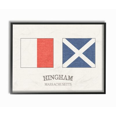 'Hingham Nautical Flags' Graphic Art Print Format: Black Framed, Size: 11