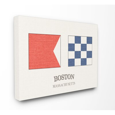 'Boston Nautical Flags' Graphic Art Print Format: Wrapped Canvas, Size: 16