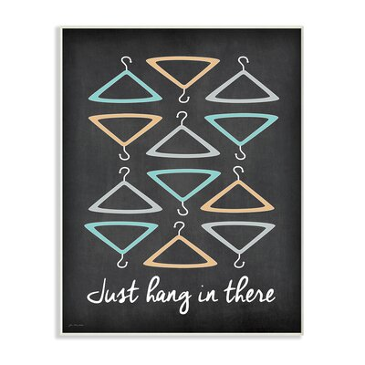 'Just Hang In There Vintage Illustration' Graphic Art Print Format: Wrapped Canvas, Size: 20