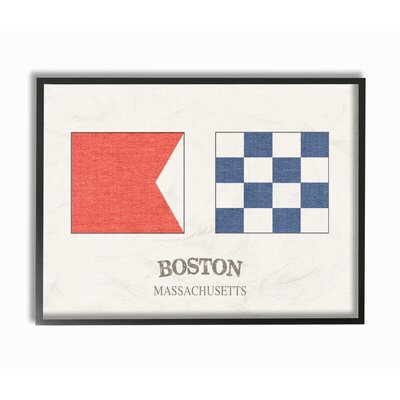 'Boston Nautical Flags' Graphic Art Print Format: Black Framed, Size: 11