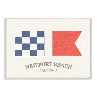 'Newport Beach Nautical Flags' Graphic Art Print Format: Plaque, Size: 10