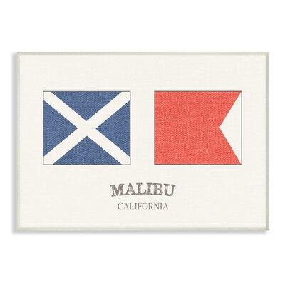'Malibu Nautical Flags' Graphic Art Print Format: Plaque, Size: 10