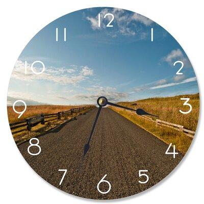 """Bergenfield Open Desert Road 12"""" Wall Clock IVBX4945 44215338"""