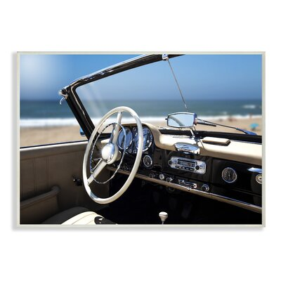 'Long Beach Vintage Car' Photographic Print on Wood Format: Unframed, Size: 10
