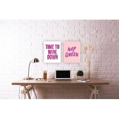 'Nap Queen' Textual Art Print VRKG8227 44214348