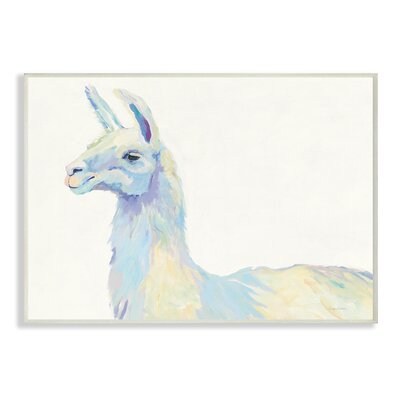 'Ophelia the Llama' Graphic Art Print on Wood Format: Unframed, Size: 10