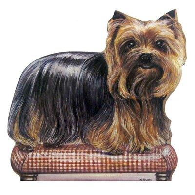 Yorkie Wooden Decorative Dog Doorstop