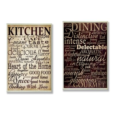 Stupell Industries Dining and Kitchen Wall Plaques (Set of 2) at Sears.com