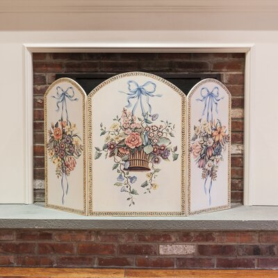 Stupell Industries Hanging Basket 3 Panel MDF Fireplace Screen at Sears.com