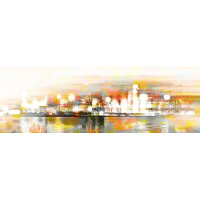 "'Hong Kong' by Parvez Taj Painting Print on Wrapped Canvas Size: 15"" H x 45"" W NL-16-C-45"