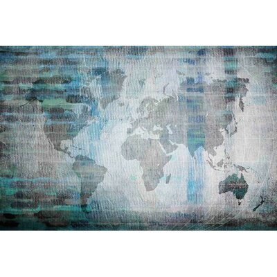 'The World In Blue' by Parvez Taj Painting Print on Wrapped Canvas