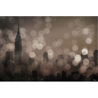 'New York Sleeping' by Parvez Taj Painting Print on Wrapped Canvas