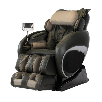 OS-4000T Faux Leather Zero Gravity Deluxe Massage Chair Upholstery: Black