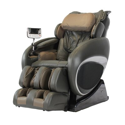 OS-4000T Faux Leather Zero Gravity Deluxe Massage Chair Upholstery: Charcoal