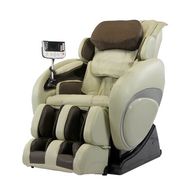 OS-4000T Faux Leather Zero Gravity Deluxe Massage Chair Upholstery: Cream