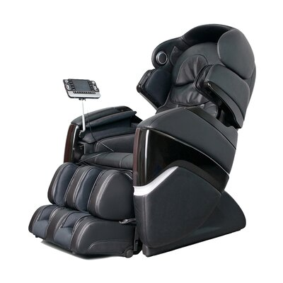 OS-3D Faux Leather Pro Cyber Massage Chair Upholstery: Black