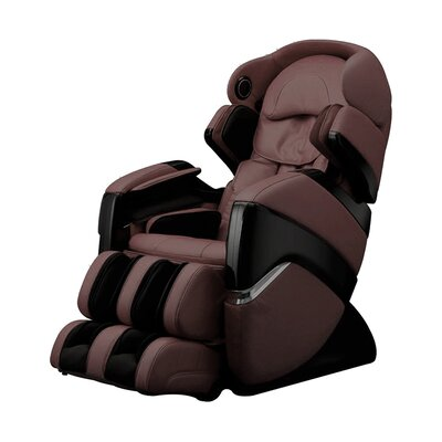 OS-3D Faux Leather Pro Cyber Massage Chair Upholstery: Brown
