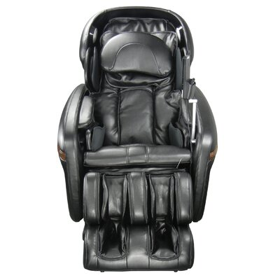 Heated Massage Chair Upholstery: Black