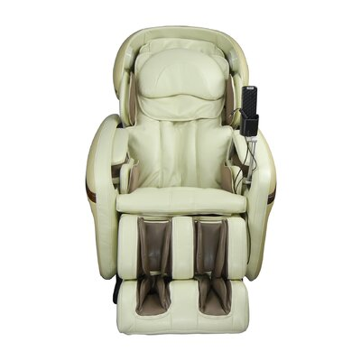 Heated Massage Chair Upholstery: Cream