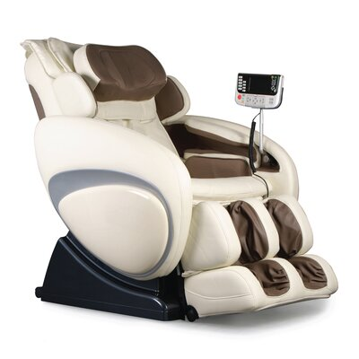 OS-4000 Zero Gravity Heated Reclining Massage Chair Upholstery: Cream/Taupe