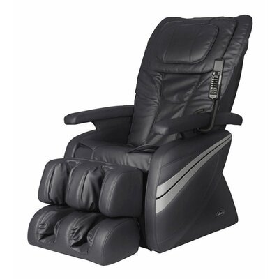 OS-1000 Reclining Massage Chair Upholstery: Black