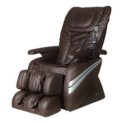 OS-1000 Reclining Massage Chair Upholstery: Brown