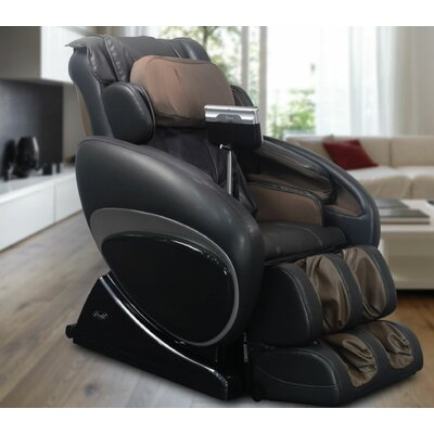 OS-4000 Zero Gravity Heated Reclining Massage Chair Upholstery: Black/Beige