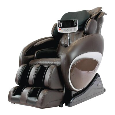 OS-4000T Faux Leather Zero Gravity Deluxe Massage Chair Upholstery: Brown