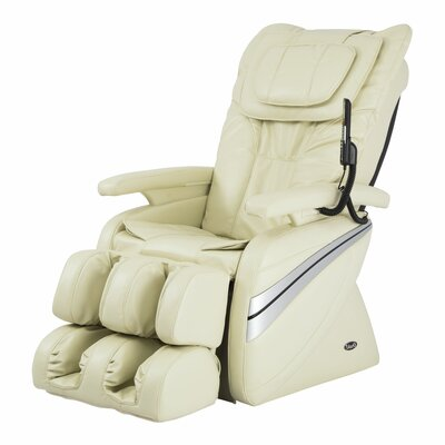 OS-1000 Reclining Massage Chair Upholstery: Cream