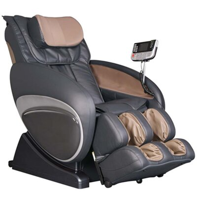 OS-3000 Zero Gravity Heated Reclining Massage Chair Upholstery: Black/Beige
