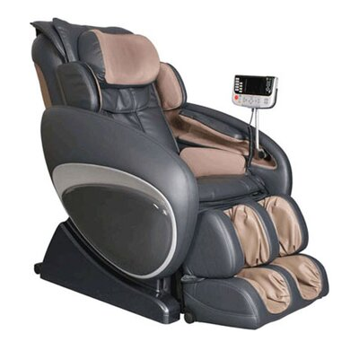 Osaki OS-4000 Zero Gravity Heated Reclining Massage Chair - Upholstery: Charcoal/Beige at Sears.com