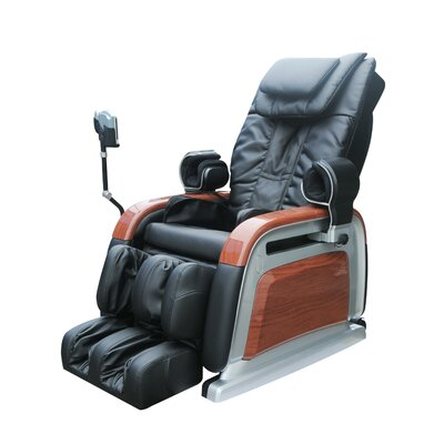 OS-2000 Heated Reclining Massage Chair Upholstery: Brown with wood grain