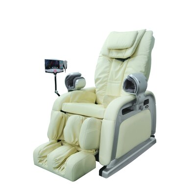 OS-2000 Heated Reclining Massage Chair Upholstery: Cream