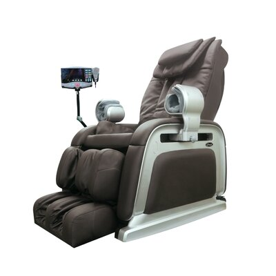 OS-2000 Heated Reclining Massage Chair Upholstery: Brown