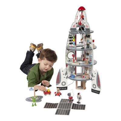 Discovery 11 Piece Space Ship And Lift Off Rocket Toy Set image