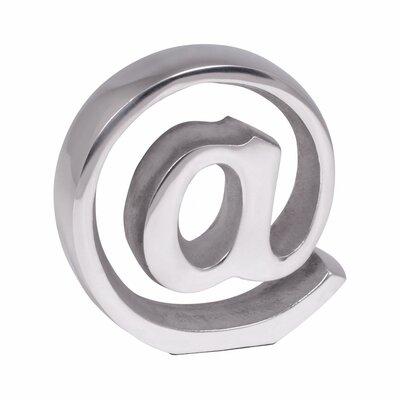 Buchstütze At-Zeichen | Wohnzimmer > Regale > Hängeregale | Silver | Metall | Home & Haus