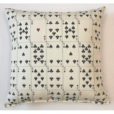 Solitaire Parchment Cotton Throw Pillow