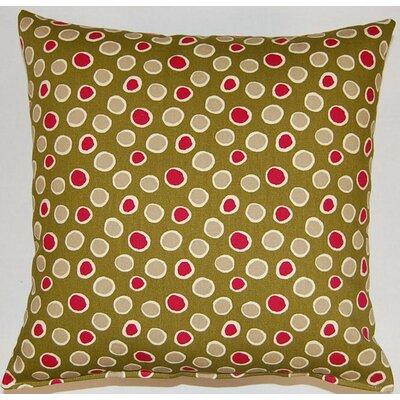 Orbi Poppy Cotton Throw Pillow