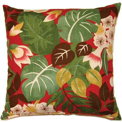 Isla Knife Edge Throw Pillow Color: Crimson