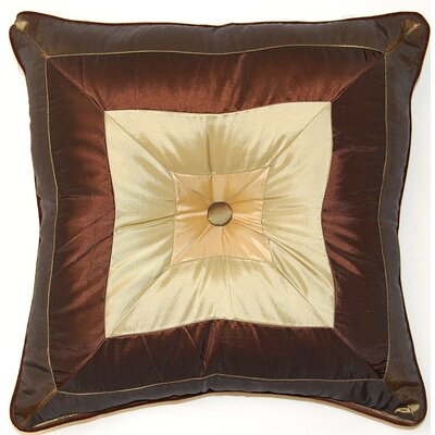 Pieced Squares Button Cord Throw Pillow