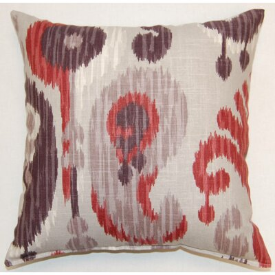Journey Knife Edge Throw Pillow Color: Wine