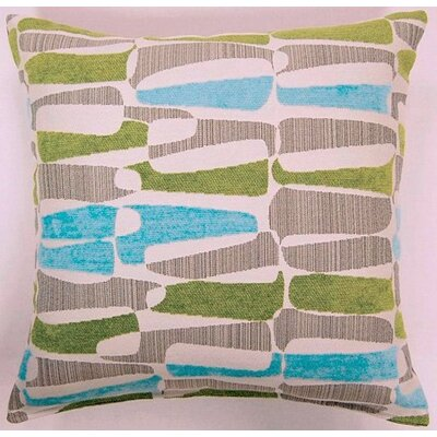 Kenya Knife Edge Throw Pillow Color: Aqualime