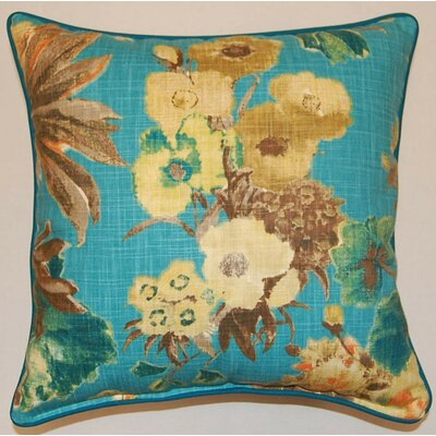 Garden Odyssey Corded Cotton Throw Pillow Color: Lagoon