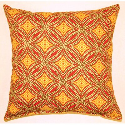 Sun Swirl Knife Edge Cotton Throw Pillow Color: Nutmeg