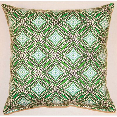 Sun Swirl Knife Edge Cotton Throw Pillow Color: Ocean